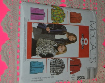 McCalls 3350 Childrens and Girls Jacket or Vest, Sewing Pattern - UNCUT - Size Xsm -Sml (3 - 6)
