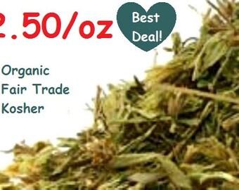 STEVIA LEAF (Stevia rebaudiana) - Organic, Fair Trade, Kosher, Non-GMO - 1oz Dried Herb