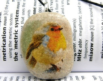 Bird necklace, Bird pendant, bird charm, bird beach stone, bird jewelry, stone,beach stone,painted stone necklace,
