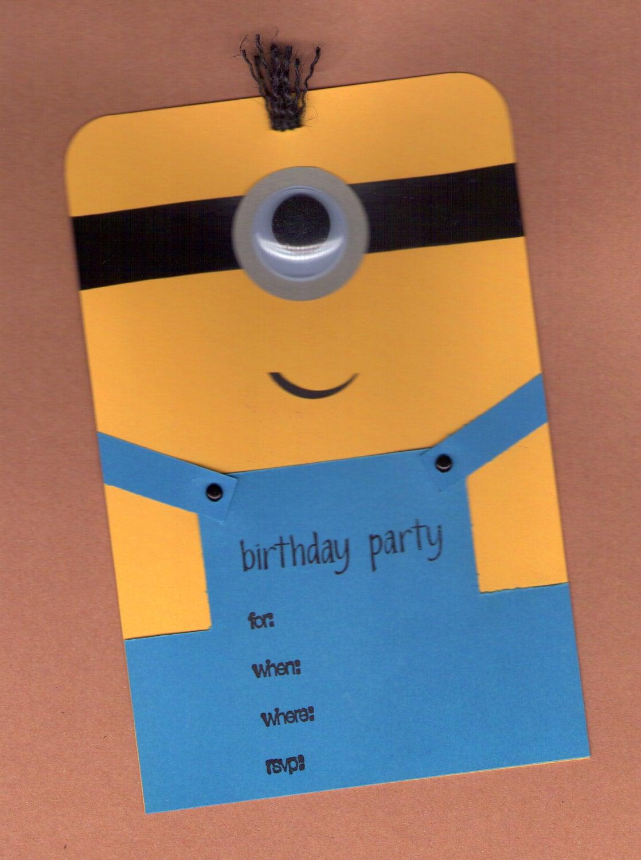Minion Birthday Invitations 10pk by BongelBlessings on Etsy