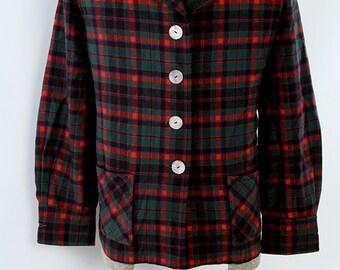 Womens Vintage 1980s Pendleton for LL Bean Plaid Wool Jacket