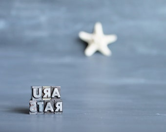 on sale: u r a star vintage letterpress letters. home decor. gift idea for teens. small