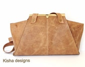 Leather tote bag, women clutch, tote, wristlet, messenger