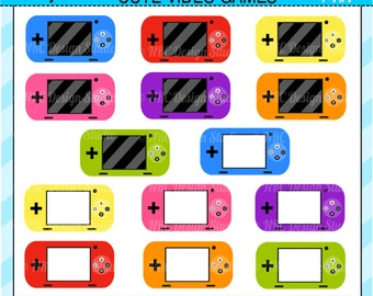 Cute Video Games Clip Art - Electronics Clip Art - Digital Video Games Clipart - Personal and Commercial Use