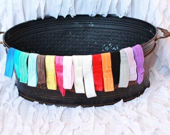set of 16 headbands, baby elastic headband set, you choose colors, baby headband set, elastic headbands, headbands for babies