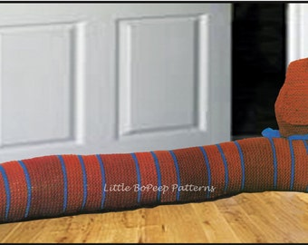 Knitting Pattern For Dog Draught Excluder : Popular items for draught excluder on Etsy