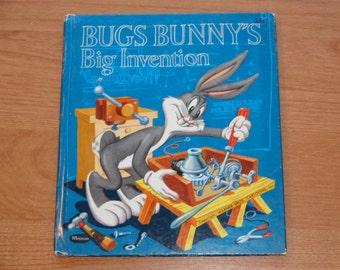 "Vintage Whitman Tell-A-Tale Book, ""Bugs Bunny's Big Invention"" adapted by Ralph Heimdahl, 1960s."