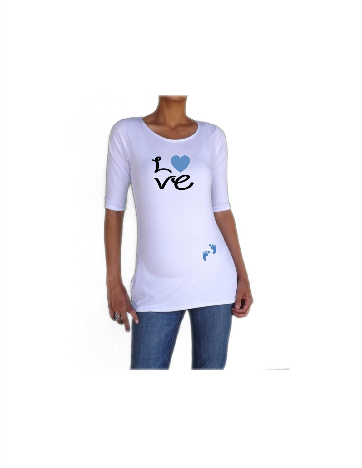 Maternity Funnycute Maternity Shirt Love With