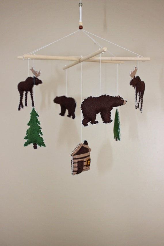 Forest Animals Camping Woodsy Rustic Baby Mobile