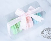 Wedding Favors French Macaron Favor Baptism Communion Favor Box and (3) French Macaroon