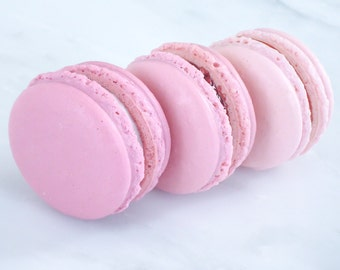 French Macaron Cookies 36 Pink Ombre Macaroons Gift Splendid Sweet
