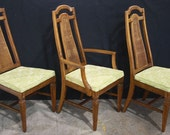 On Hold for Tomasa Set of 2 Maple Wood Mid-Century High-Back Dining Side Arm Chair