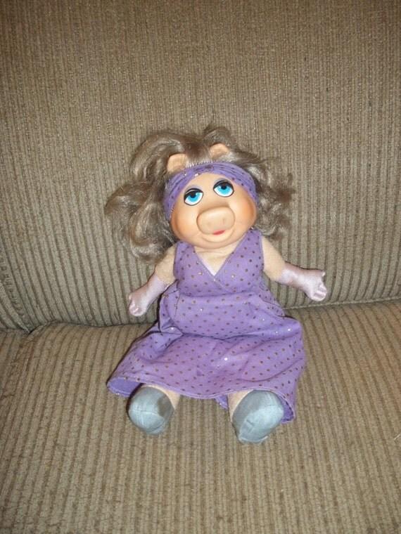 Fisher-Price Dress Up MISS PIGGY Doll 1980 Muppets Plush