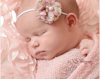 Floral Headband..Newborn Headband..Baby Girl Headband..Baby Headband..Headband..Headband..Toddler Headband..Infant Headband..Baby..Baby Girl