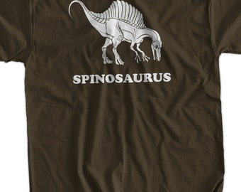Spinosaurus Dinosaur Dino Geek Science Nerd Jurassic Cool  funny tshirt  Geek Nerd Cool Art Screen PrinteT-Shirt Mens Ladies Womens