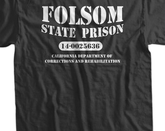 Folsom State Prison Cash Country Music Classic Tshirt T-Shirt Tee Shirt Mens Womens Ladies Youth Kids Geek Funny