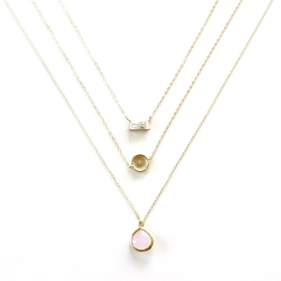 gold layer necklace gold necklace simple minimal necklace
