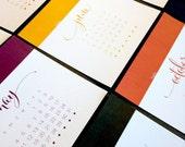 2014 Color Block Desk Calendar, 6x6
