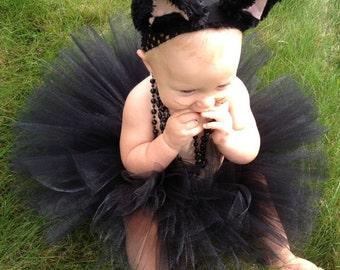 Black Cat Costume, Black Tutu Costume, Black Kitty Costume, Tutu Halloween Costume, Infant Toddler Halloween Costume
