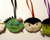 SALE - Felt Halloween Decoration Set - More Cute Than Scary