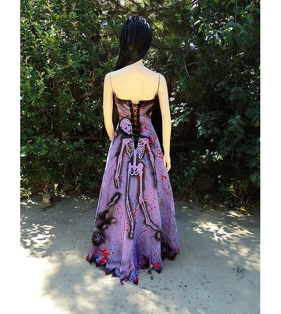 Deluxe Zombie Prom Queen Gown Costume