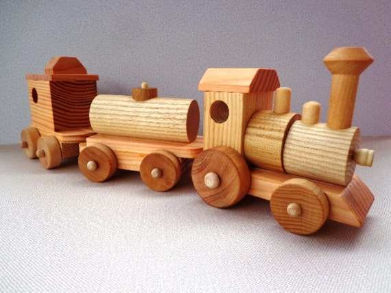 Wooden Toy Train Set - Heirloom Quality - Classic Toy - Hand Crafted ...