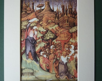 Modern Print Of Moses At The Sermon On The Mount - Mount Sinai - Biblical Print - Ten Commandments - Holy Bible - Catholic - Christian