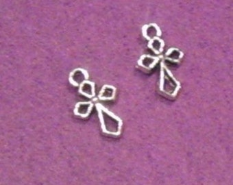 Cross Charms - Silver Plated - Christian Jewelry Making Supplies