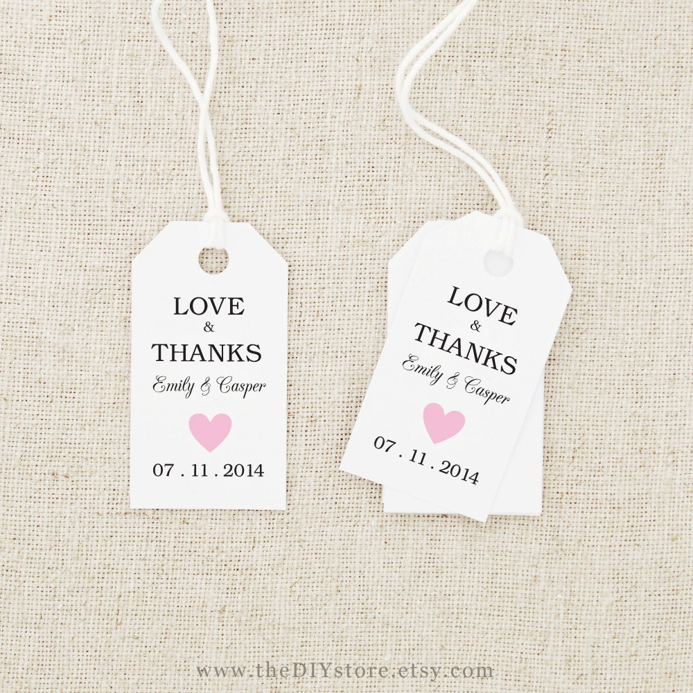 Wedding Thank You Gift Tags Template : Free Printable Wedding Thank You Tags Free Printable Wedding Gift