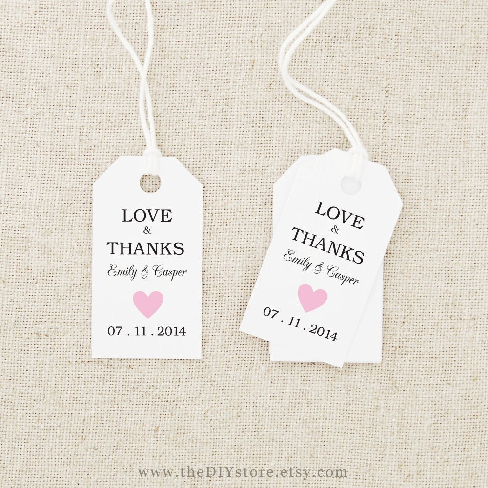 Awesome Printable Tags For Wedding Favors Pictures - Styles & Ideas ...