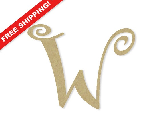 Large Decorative Wooden Letters: Decorative Wooden Letters W Large Or Small Unfinished By