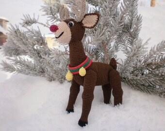 Wonderful Reindeer Rudolf. Toy crochet pattern (PDF)