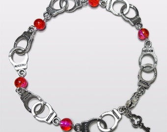NEW Fifty Shades of Grey inspired Handcuff anklet. Summer colours