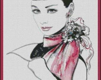 The Alluring Gaze - Counted Needle Point and Cross Stitch Chart Patterns