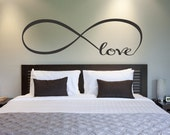 Love Infinity Symbol Bedroom Wall Decal Love Decor Love Bedroom Decor Home Decor Infinity Loop Wall Quote Vinyl Lettering
