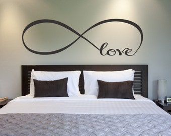 love infinity symbol bedroom wall decal love decor love bedroom decor home decor infinity loop wall - Home Decor Bedroom