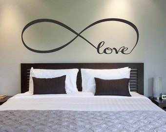Love Infinity Symbol Bedroom Wall Decal Love Decor Love Bedroom Decor Home Decor Infinity Loop Wall