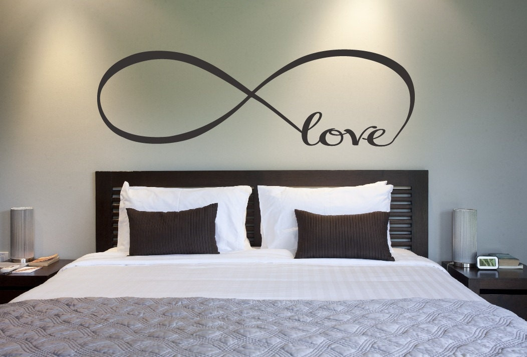 Love infinity symbol bedroom wall decal love decor love Wall stickers for bedrooms