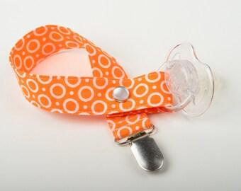 Pacifier Clip - Ring Around the Rosie - Orange