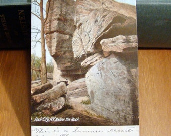 Vintage Postcard, Rock City, New York, 1910s Paper Ephemera