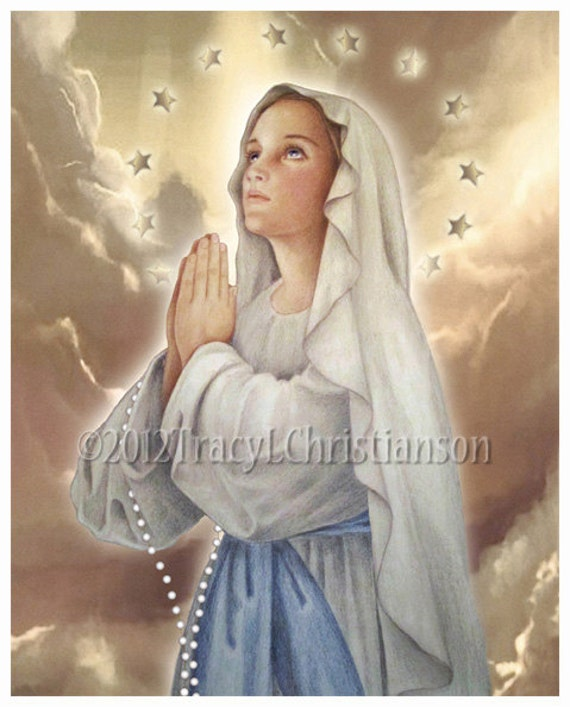 The immaculate conception virgin mary art print 4021 for Are tattoos a sin catholic
