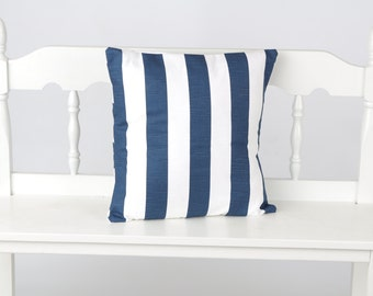 Nautical Navy stripe pillow cover
