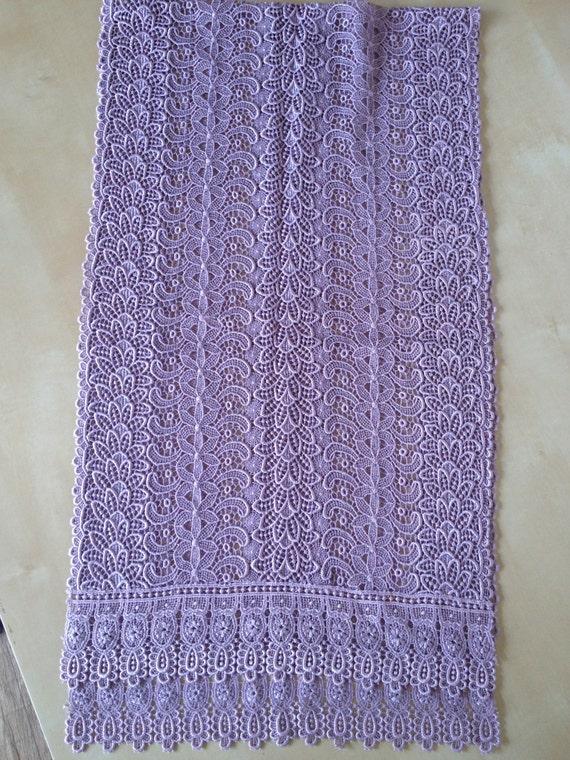 Japanese lilac pastel purple lace kimono shawl/ by japanorama