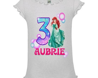 Little Mermaid Birthday Shirt - Tank Top Available
