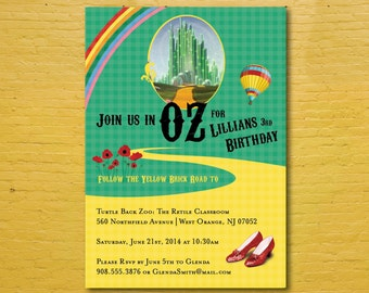 Wizard of Oz Invitation