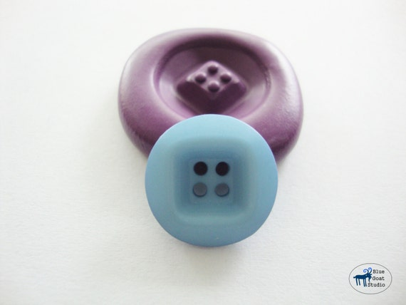 Button Mold - Four Hole Button - Silicone Mold - Polymer Clay Resin Fondant Soap Wax Candy