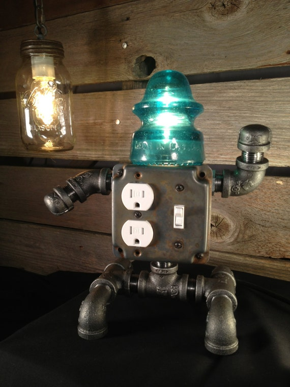 Robot Usb Phone Charger Insulator Lamp T Ed Gets The Rustic