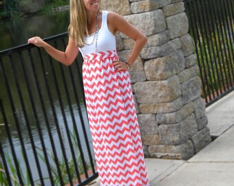 Chevron maxi dress | Etsy