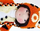 artist cloth soft sculptured Aiden doll, jointed, 16 inches