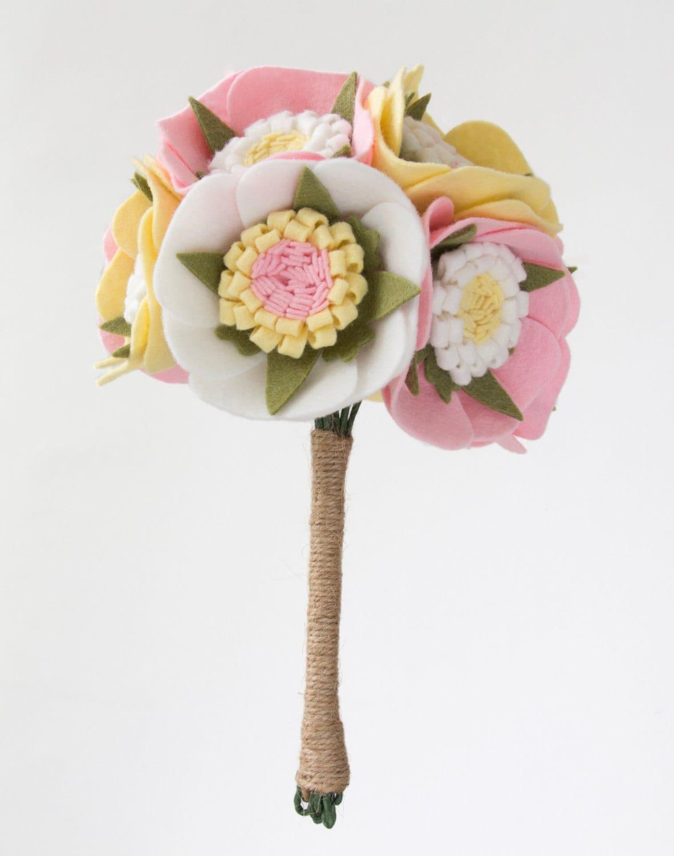 Felt Flower Bouquet Handmade Alternative Wedding Flowers